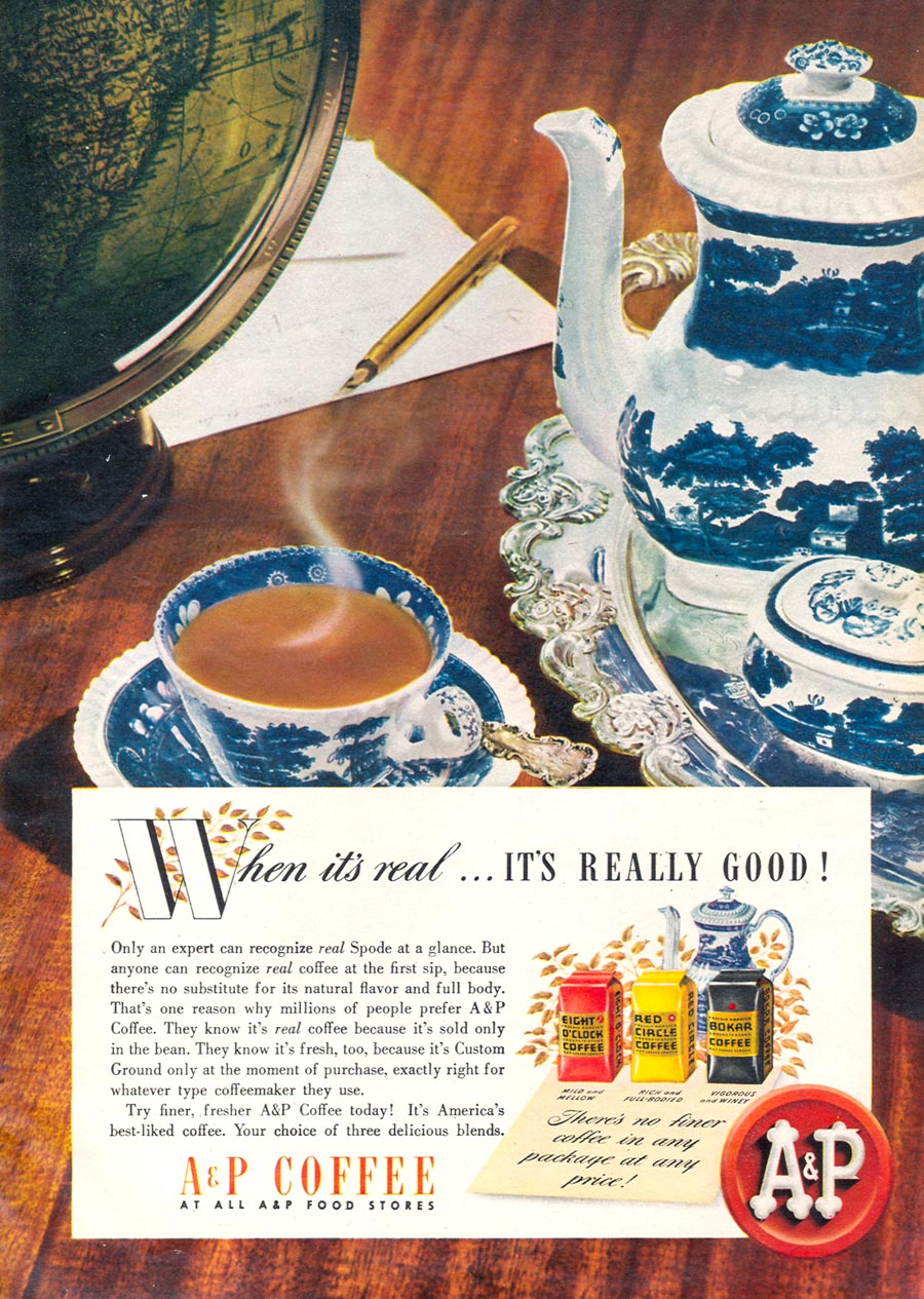 A & P COFFEE WOMAN'S DAY 11/01/1945 p. 52