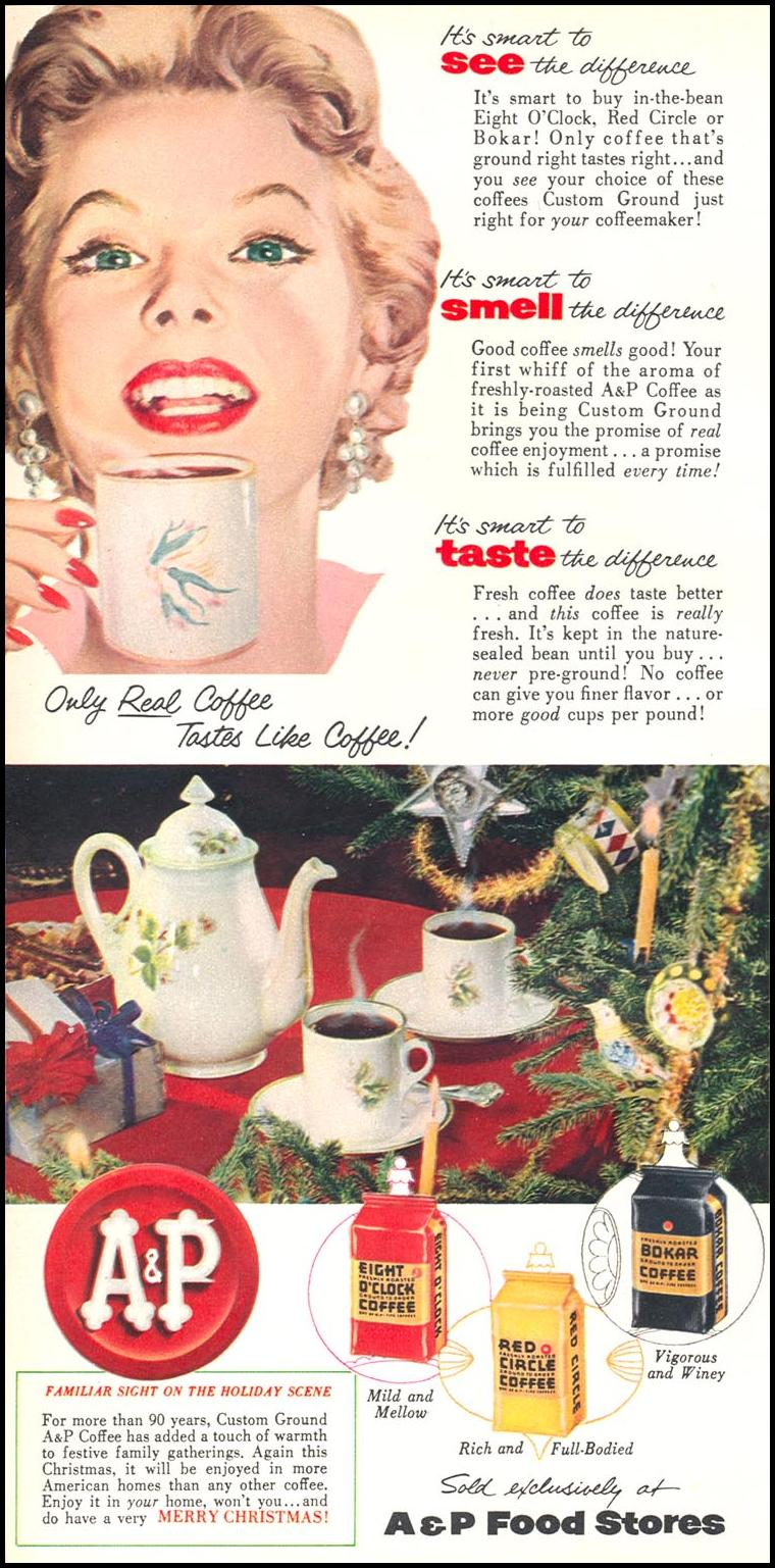 A & P COFFEE WOMAN'S DAY 12/01/1954 p. 70