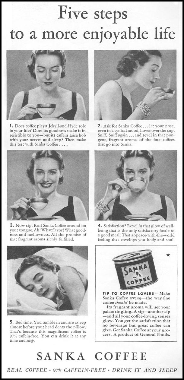 SANKA COFFEE GOOD HOUSEKEEPING 06/01/1935 p. 161