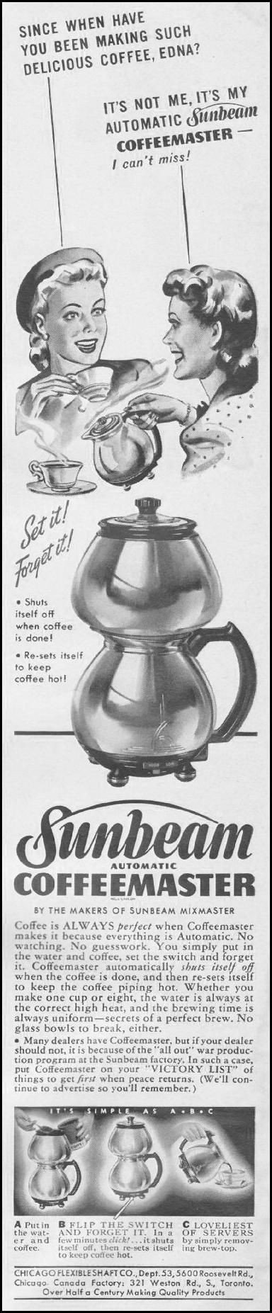 SUNBEAM AUTOMATIC COFFEEMASTER LIFE 06/22/1942 p. 4