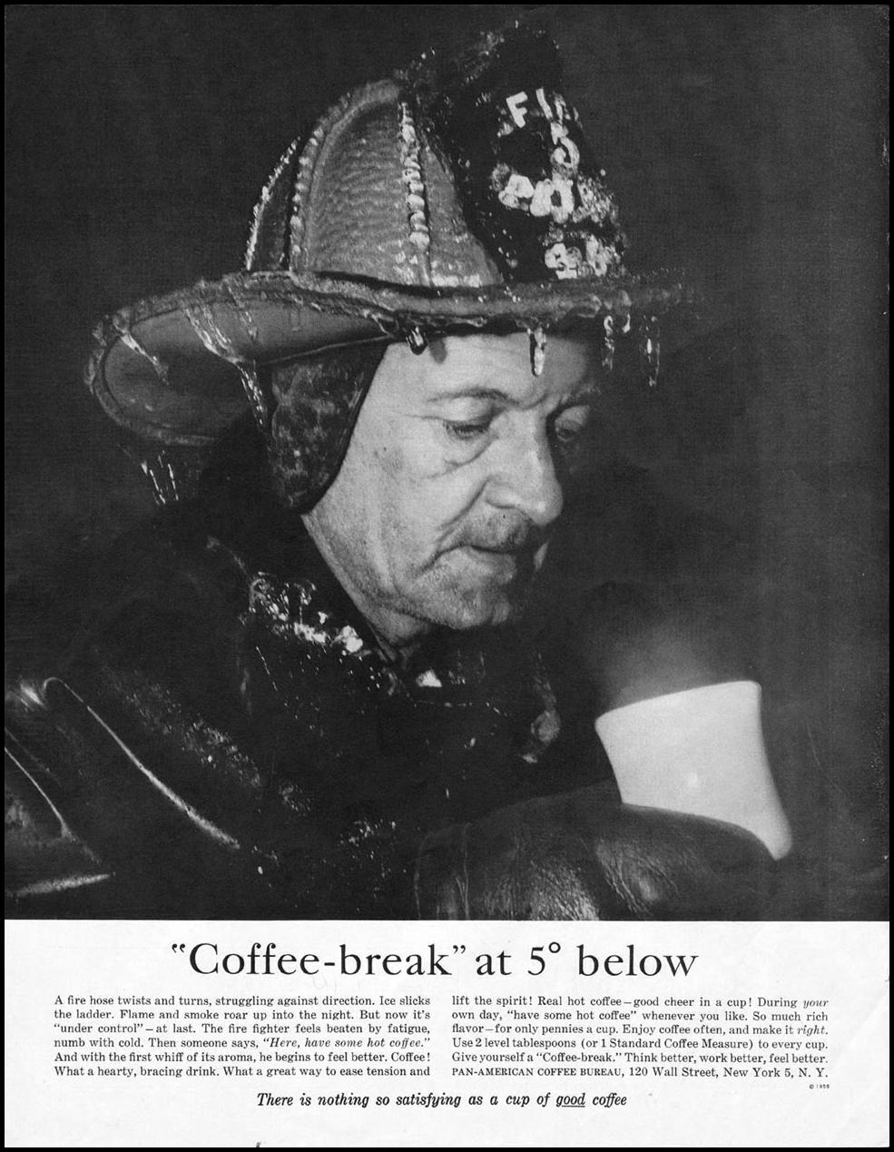 COFFEE SATURDAY EVENING POST 02/05/1955 p. 56
