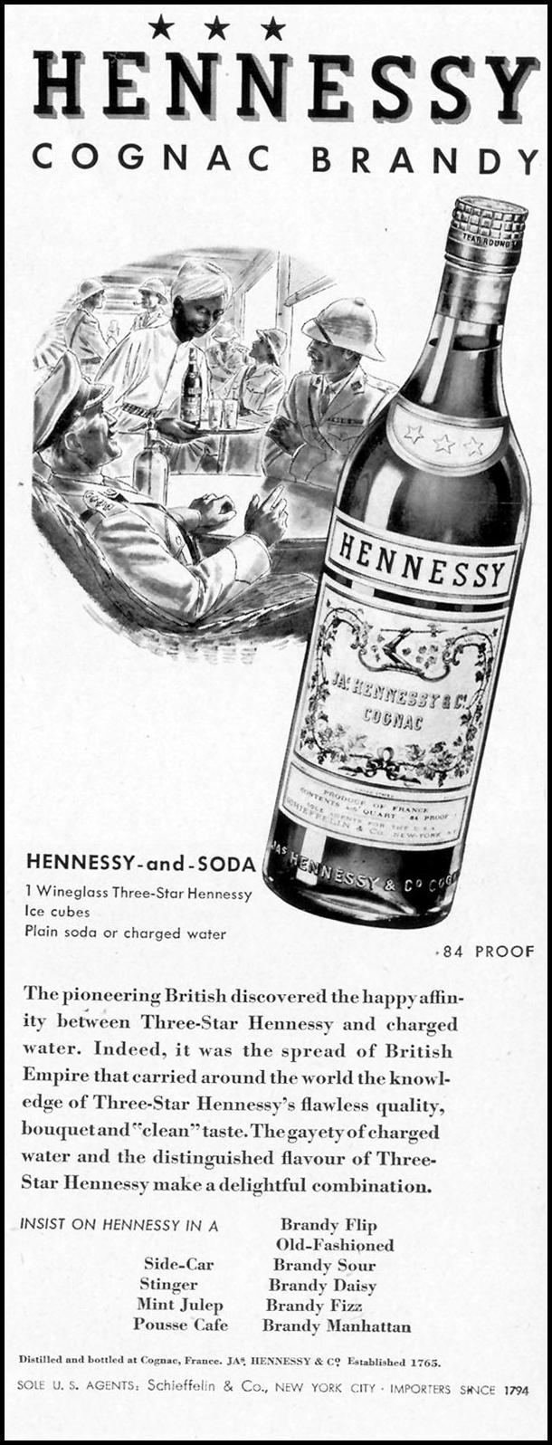 HENNESSY COGNAC BRANDY LIFE 09/13/1937 p. 9