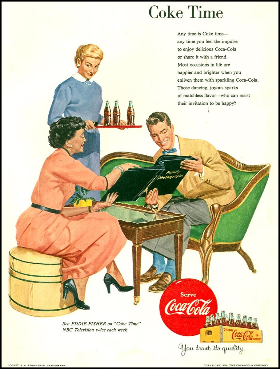 COCA-COLA WOMAN'S DAY 02/01/1954 p. 57