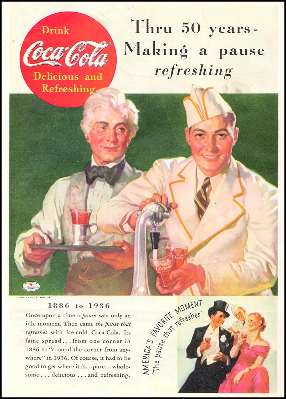 COCA-COLA GOOD HOUSEKEEPING 04/01/1936