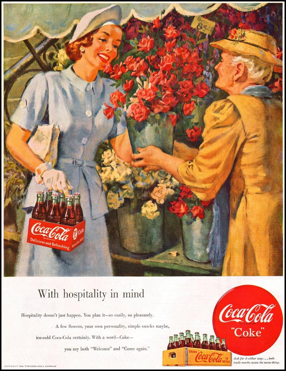 COCA-COLA LADIES' HOME JOURNAL 07/01/1949 p. 22