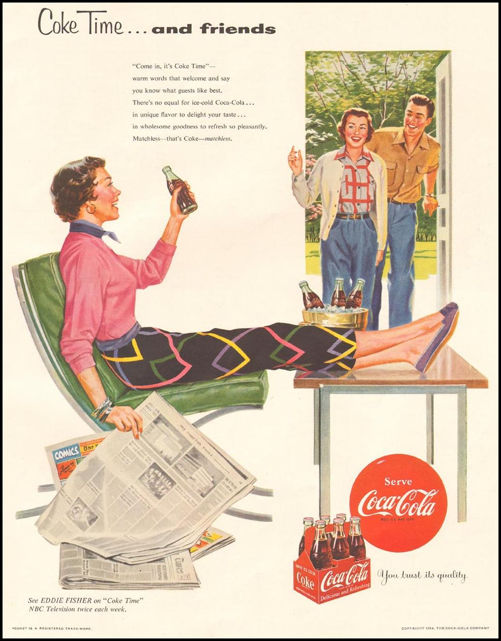 COCA-COLA LADIES' HOME JOURNAL 03/01/1954 p. 113