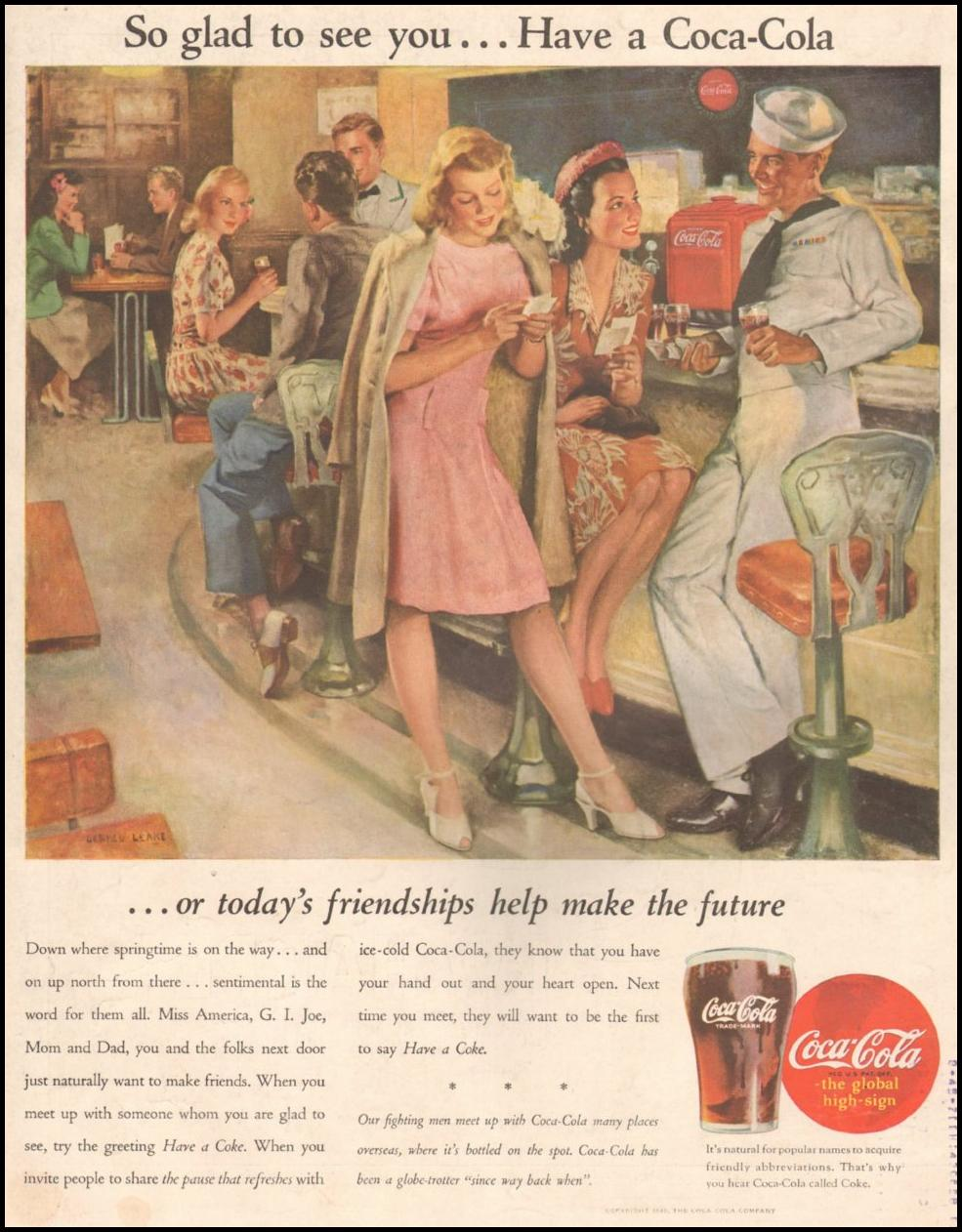 COCA-COLA LIFE 03/12/1945 BACK COVER