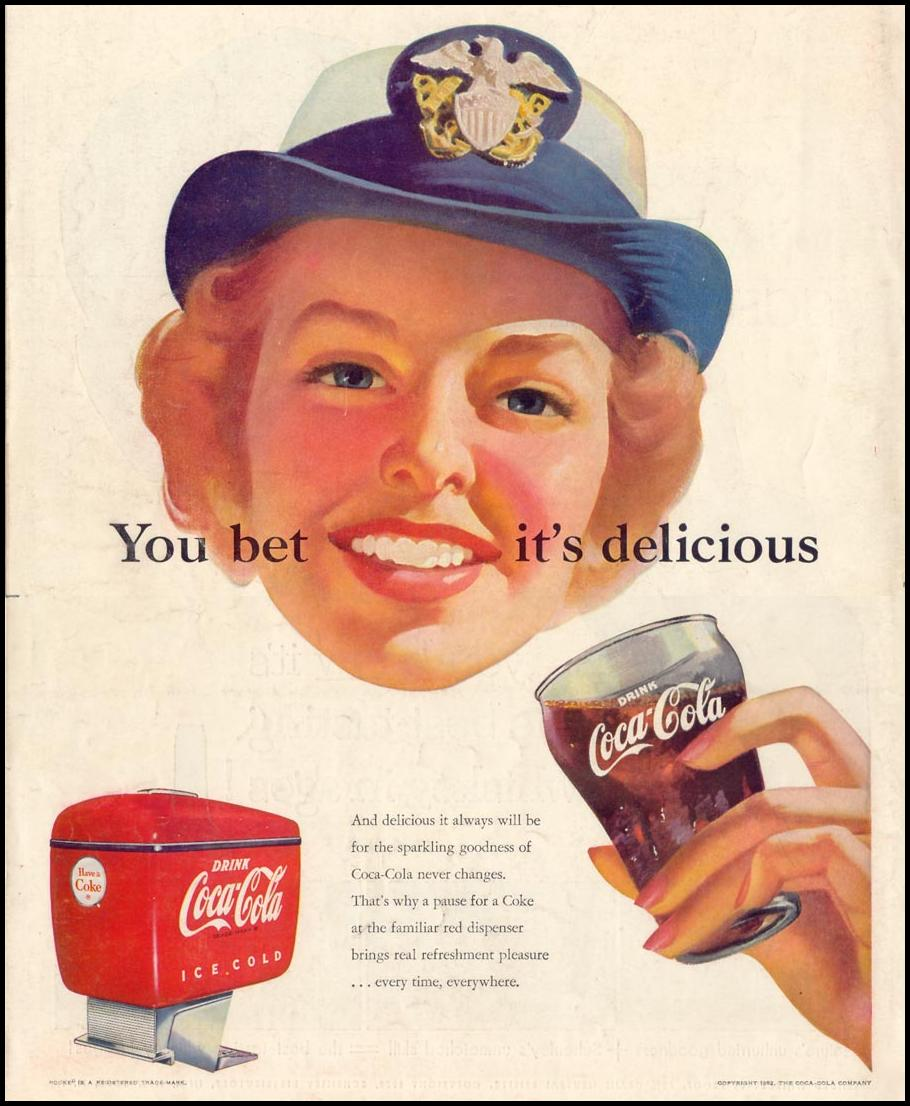 COCA-COLA LIFE 10/13/1952 BACK COVER
