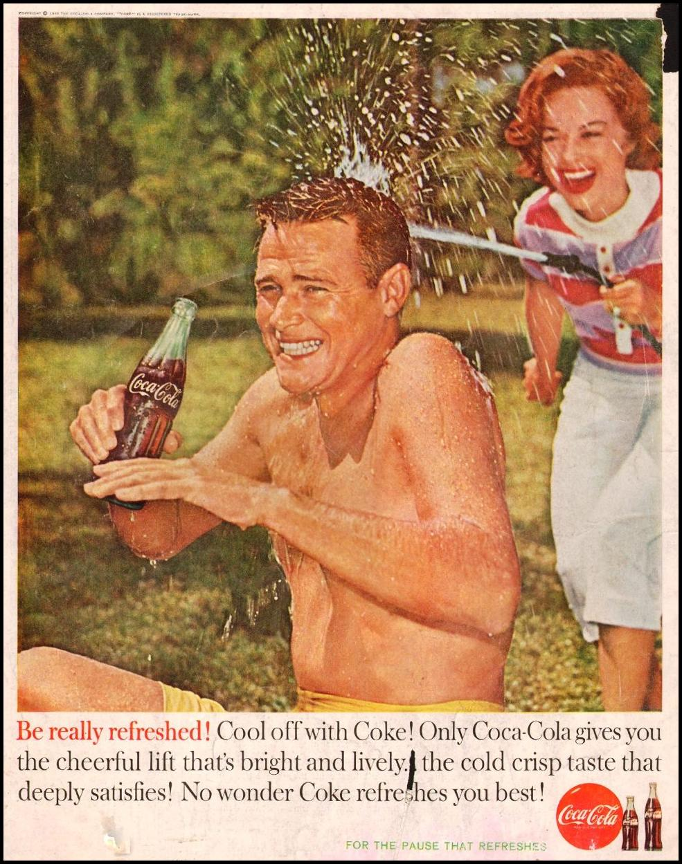 COCA-COLA SATURDAY EVENING POST 06/04/1960 BACK COVER