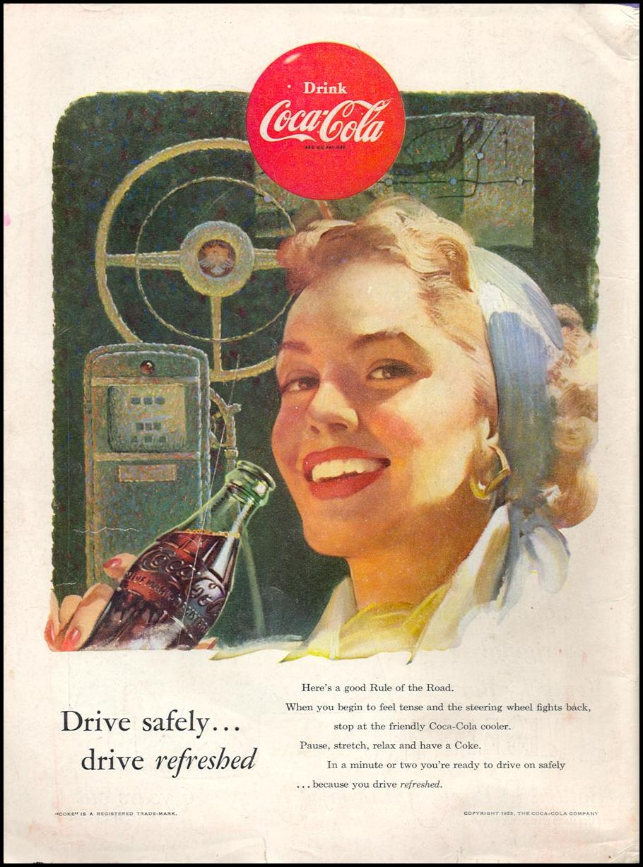 COCA-COLA TIME 06/08/1953 BACK COVER