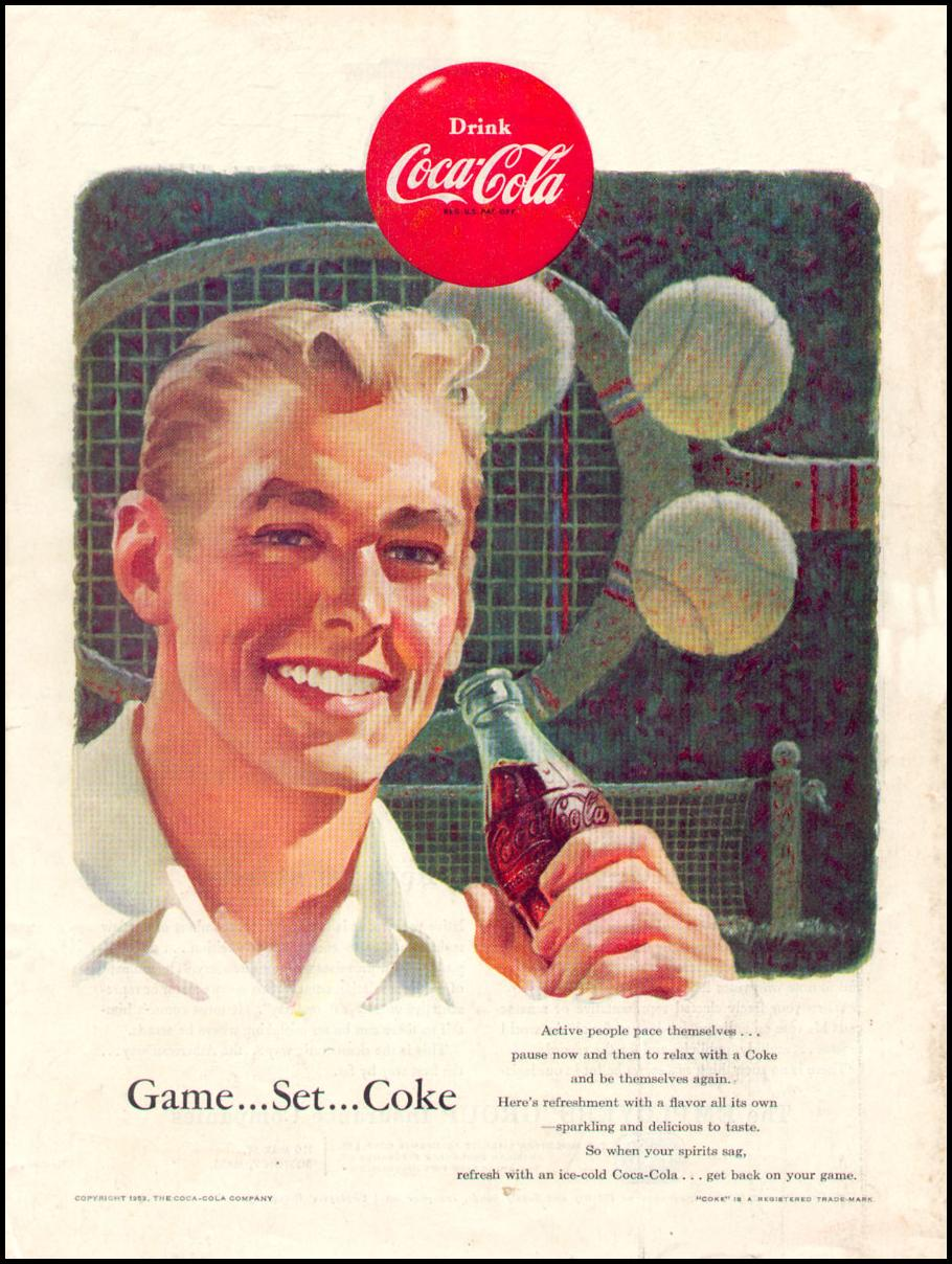 COCA-COLA TIME 08/31/1953 BACK COVER