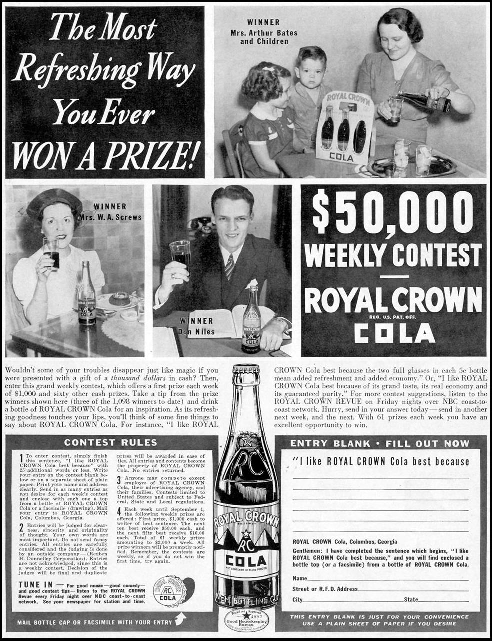ROYAL CROWN COLA LIFE 07/18/1938 p. 61