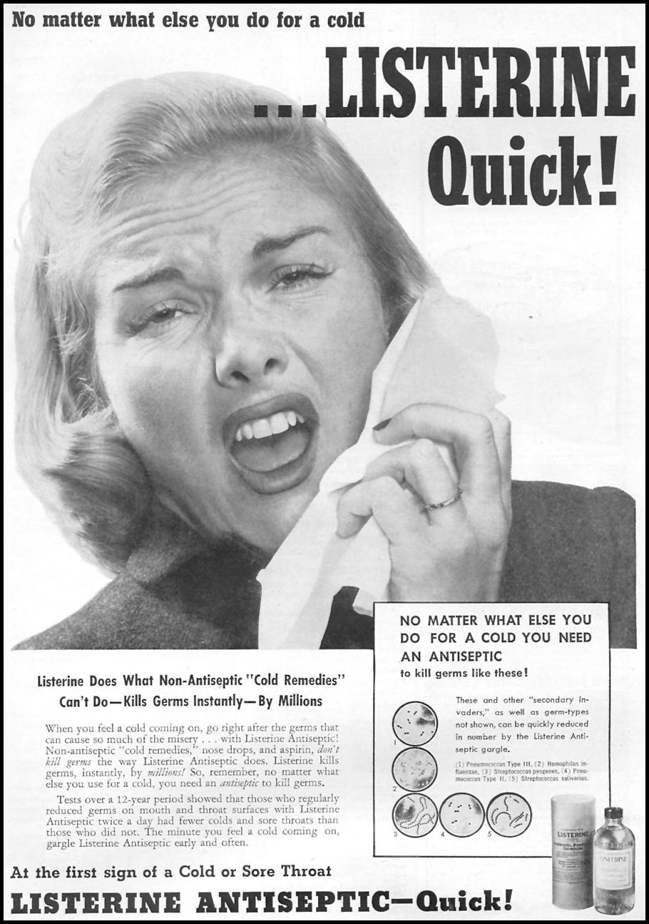 LISTERINE ANTISEPTIC FAMILY CIRCLE 01/01/1956 p. 1