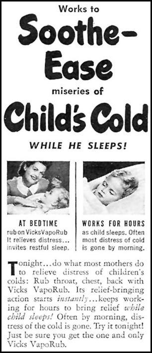 VICKS VAPORUB WOMAN'S DAY 10/01/1946 p. 82