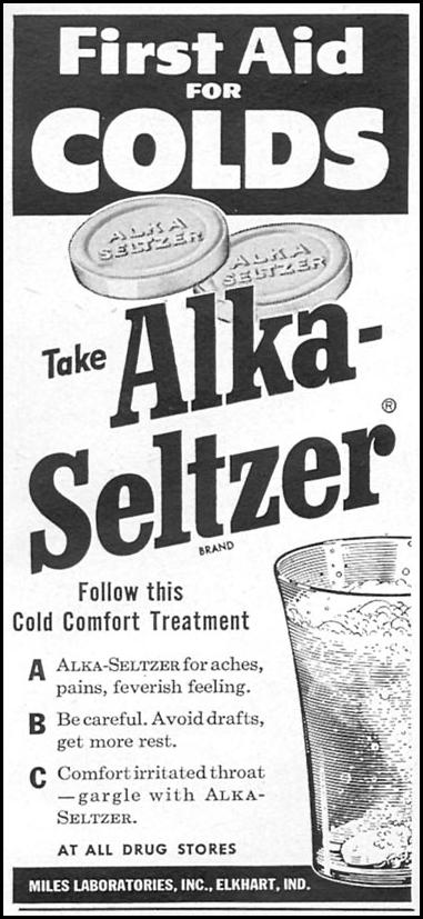 ALKA-SELTZER WOMAN'S DAY 12/01/1954 p. 137