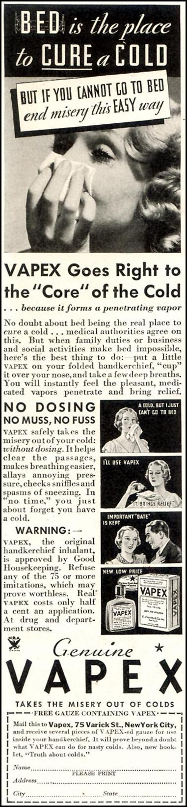 VAPEX GOOD HOUSEKEEPING 11/01/1933 p. 192