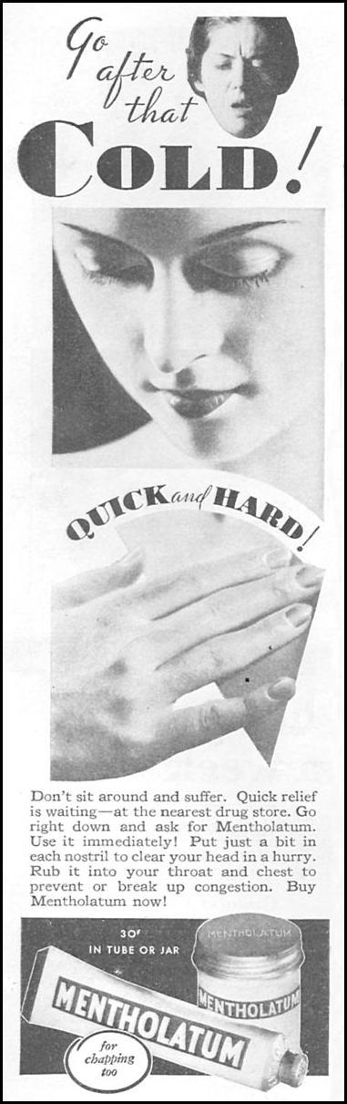 METHOLATUM GOOD HOUSEKEEPING 01/01/1932 p. 154