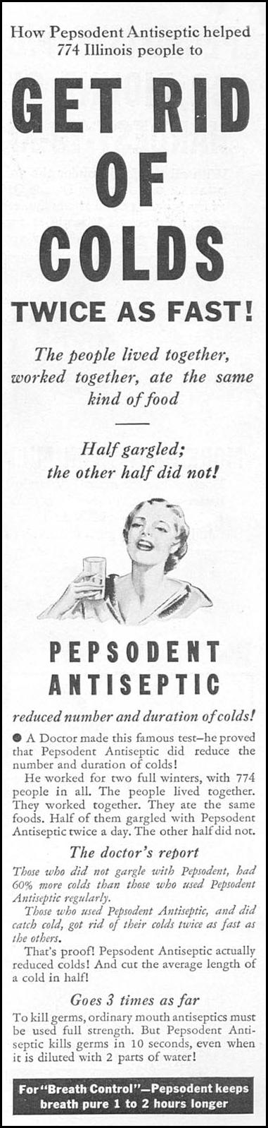 PEPSODENT ANTISEPTIC GOOD HOUSEKEEPING 04/01/1936 p. 141