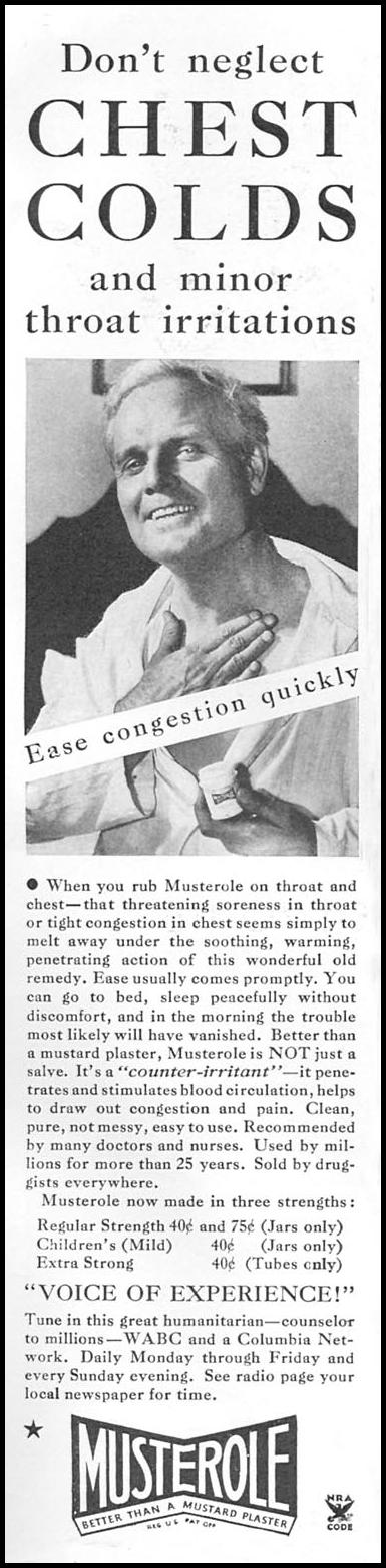 MUSTEROLE GOOD HOUSEKEEPING 12/01/1934 p. 140