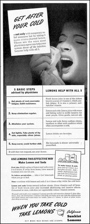 SUNKIST LEMONS LIFE 02/21/1944 p. 58