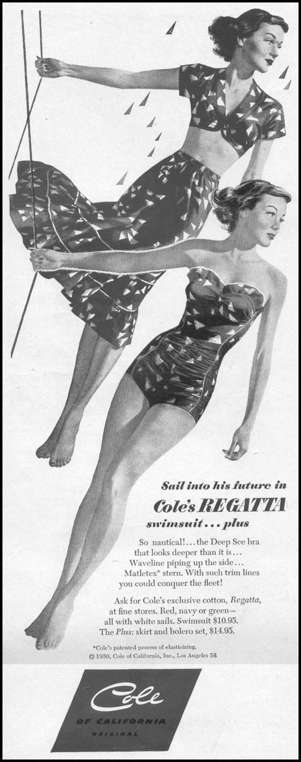 COLE SWIMSUITS LIFE 06/05/1950 p. 86