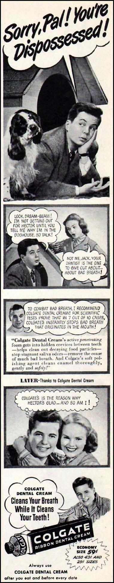 COLGATE DENTAL CREAM LADIES' HOME JOURNAL 07/01/1949 p. 135