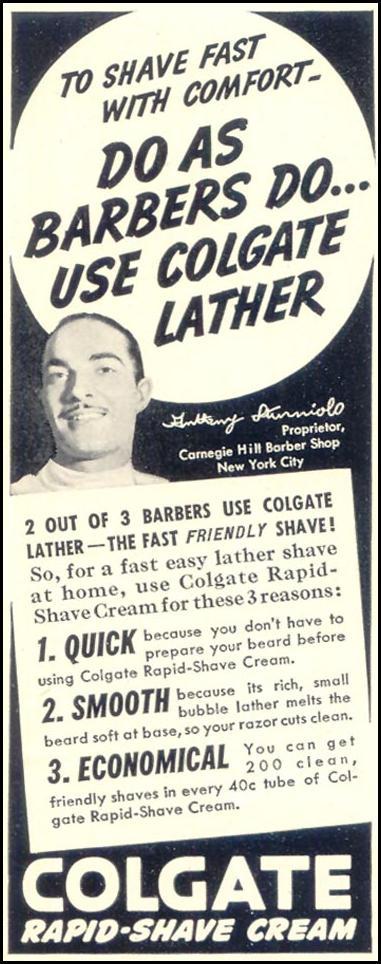 COLGATE RAPID-SHAVE CREAM LIFE 07/24/1939 p. 74