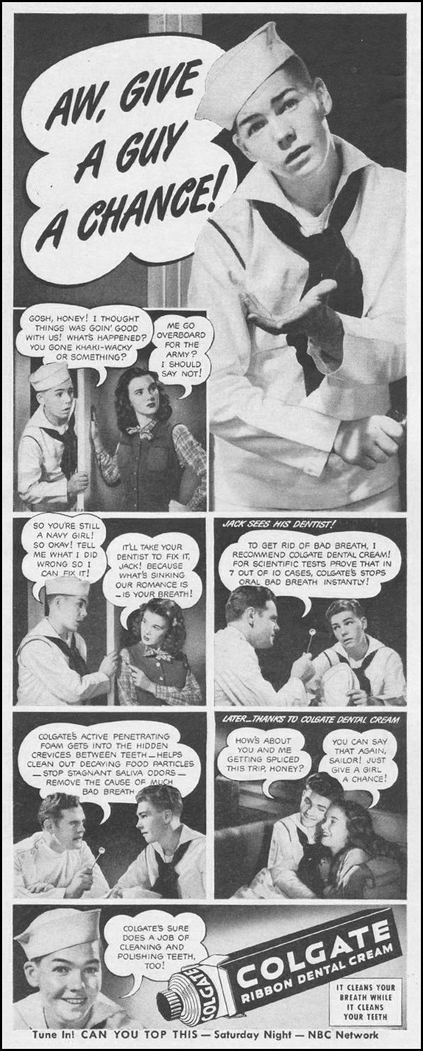COLGATE DENTAL CREAM LIFE 10/25/1943 p. 14