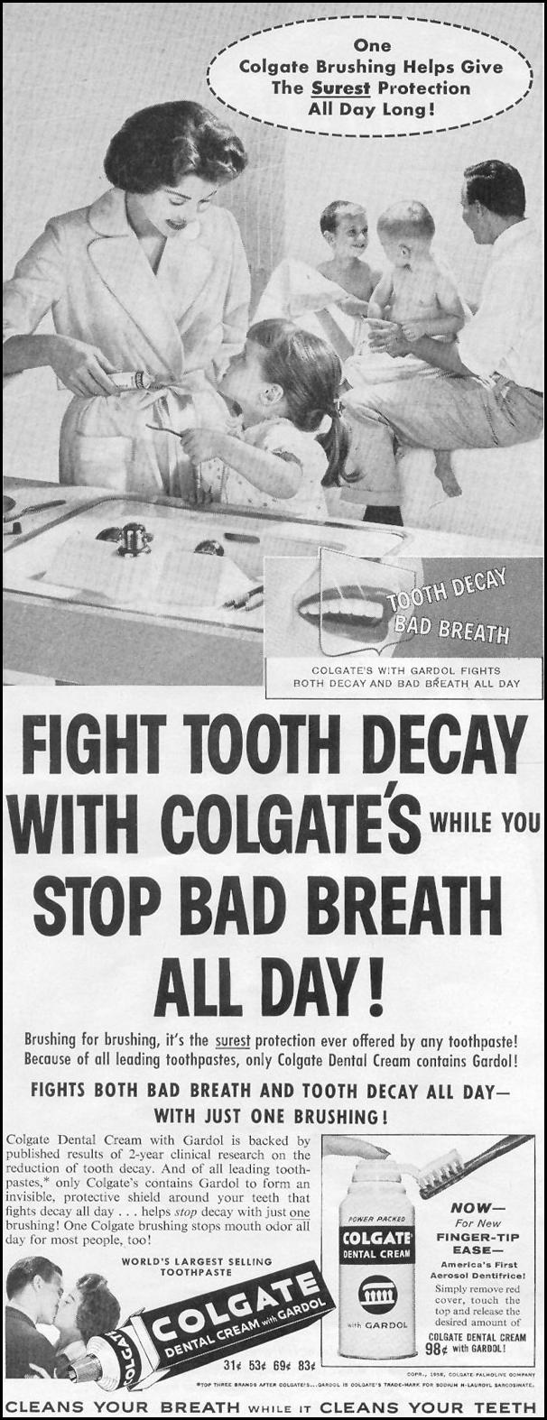 COLGATE DENTAL CREAM LOOK 09/16/1958 p. 82