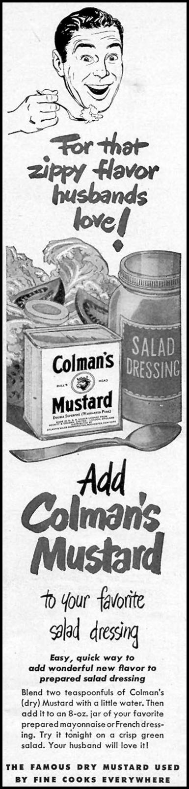 COLMAN'S MUSTARD WOMAN'S DAY 06/01/1949 p. 105