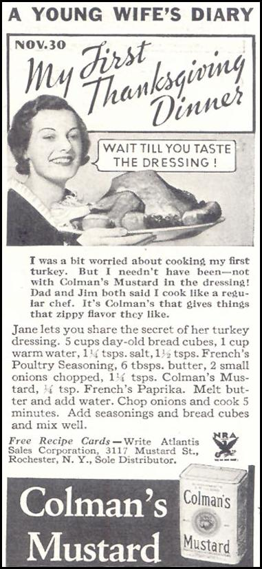 COLMAN'S MUSTARD GOOD HOUSEKEEPING 11/01/1933 p. 208