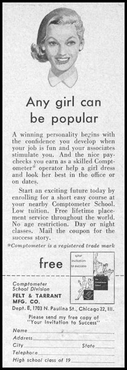 COMPTOMETER TRAINING PHOTOPLAY 08/01/1956 p. 105