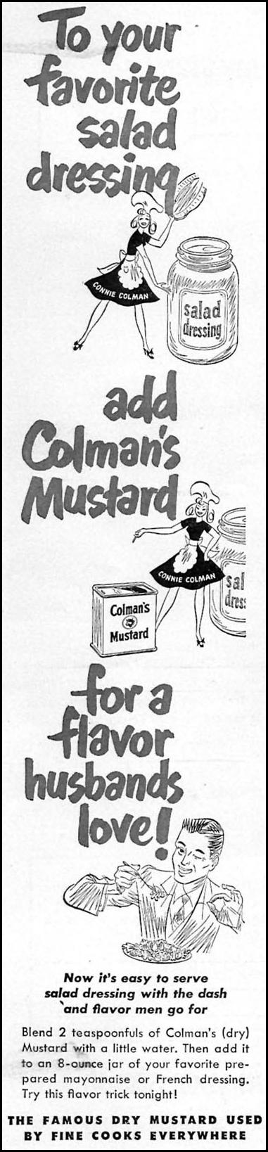 COLMAN'S MUSTARD WOMAN'S DAY 09/01/1949 p. 24