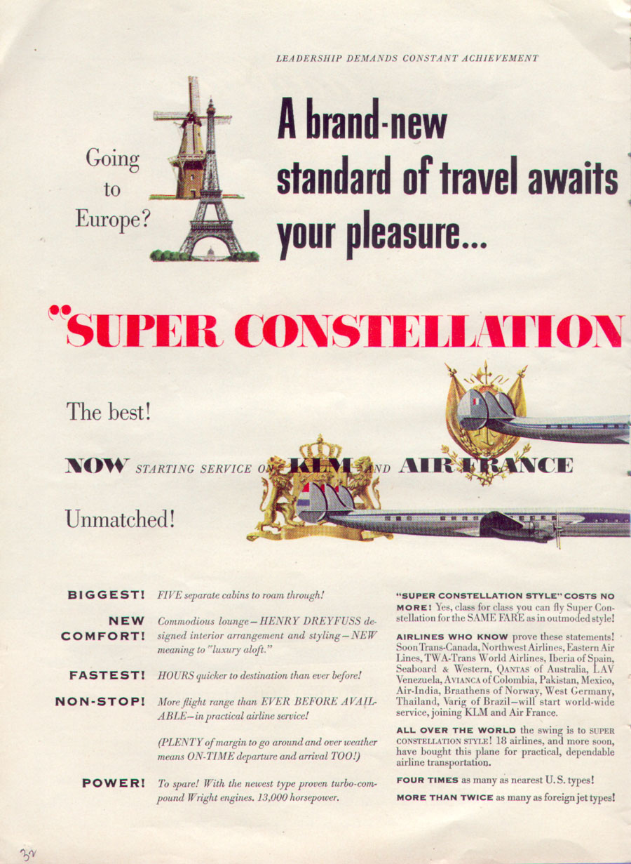 SUPER CONSTELLATION AIRLINER TIME 08/31/1953 p. 32