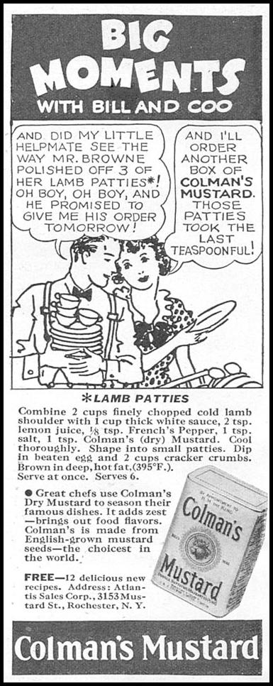 COLMAN'S MUSTARD GOOD HOUSEKEEPING 04/01/1936 p. 228