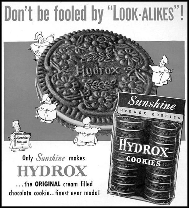 HYDROX COOKIES WOMAN'S DAY 02/01/1954 p. 167