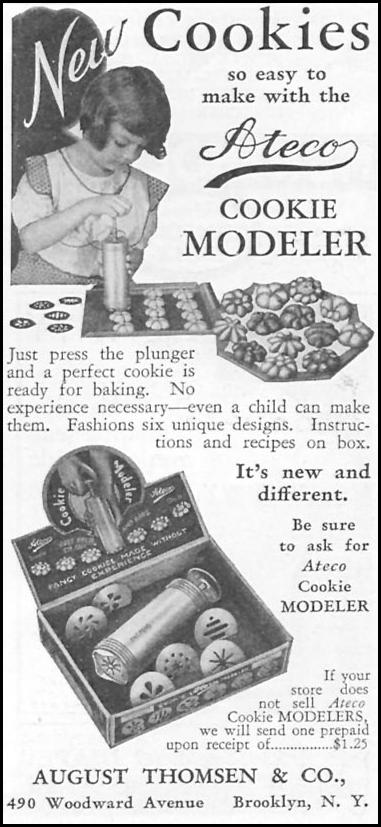 ATECO COOKIE MODELER GOOD HOUSEKEEPING 12/01/1933 p. 179