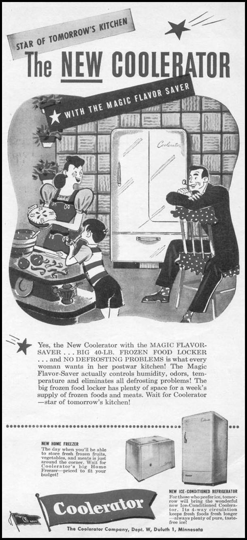 COOLERATOR REFRIGERATOR-FREEZER WOMAN'S DAY 11/01/1945 p. 3