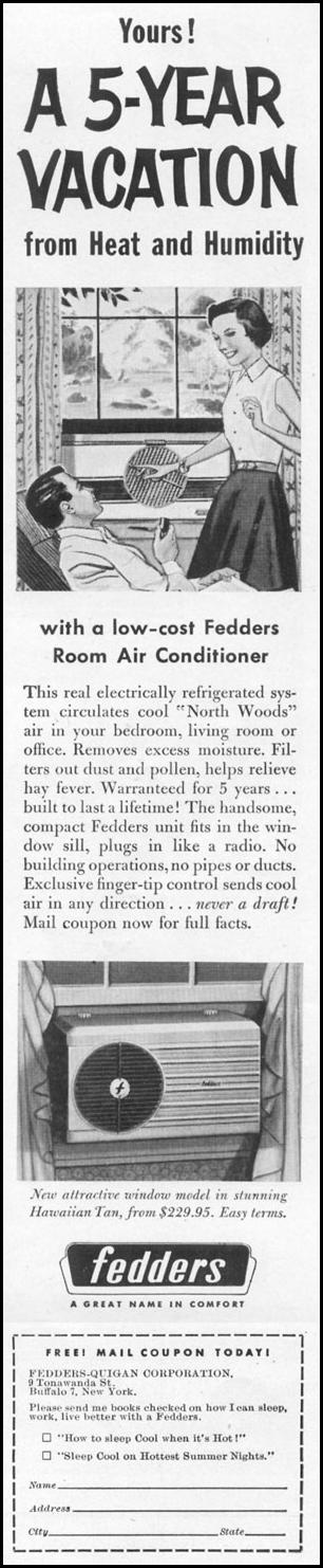 FEDDERS ROOM AIR CONDITIONER LIFE 06/16/1952 p. 49