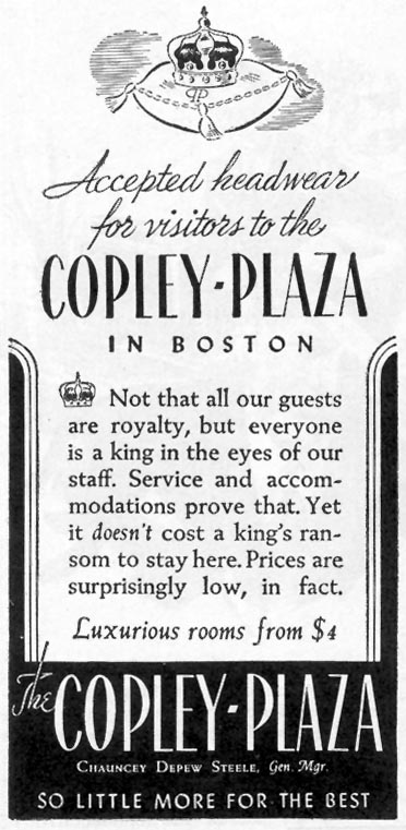 THE COPLEY-PLAZA HOTEL TIME 02/16/1942 p. 42