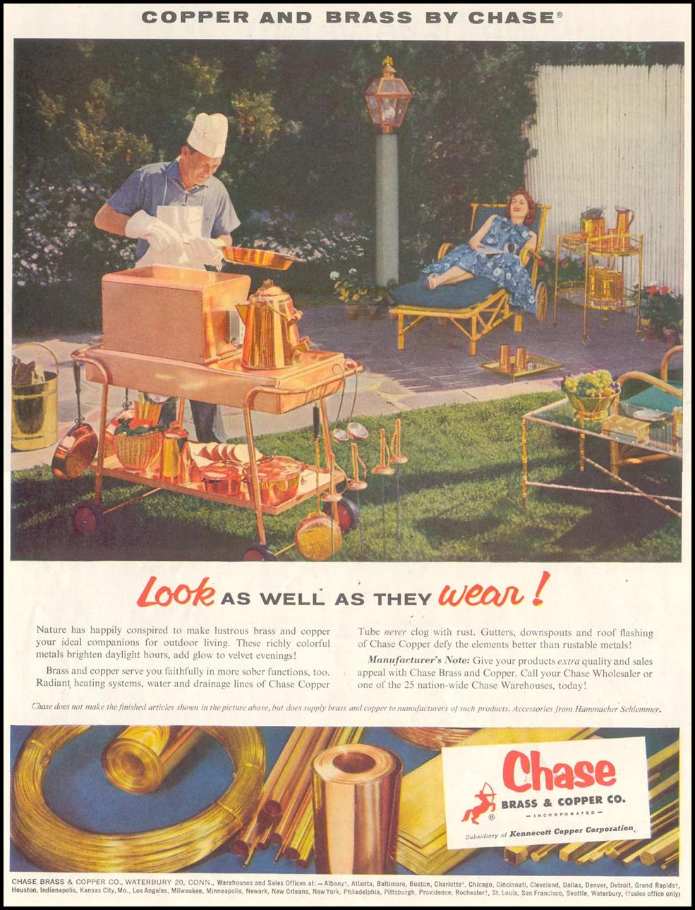 CHASE COPPER GRILLS SATURDAY EVENING POST 07/23/1955 p. 54