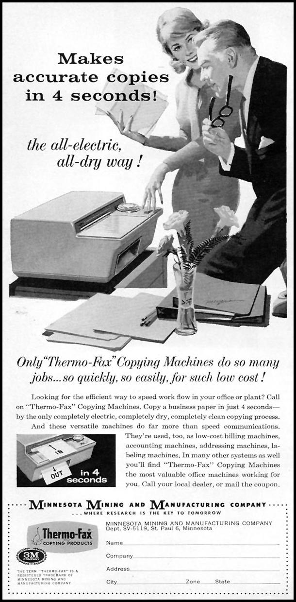 THERMO-FAX COPYING MACHINES SPORTS ILLUSTRATED 05/11/1959 p. 70