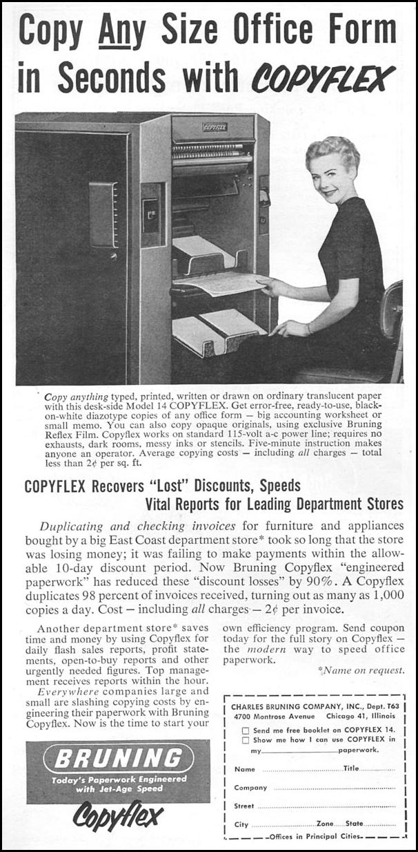 COPYFLEX DOCUMENT COPYING SYSTEM TIME 06/08/1953 p. 104