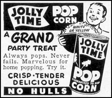 JOLLY TIME POPCORN WOMAN'S DAY 02/01/1950 p. 150