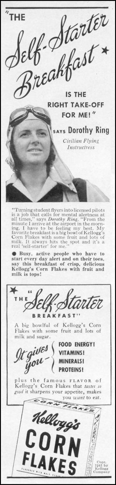 KELLOGG'S CORN FLAKES WOMAN'S DAY 04/01/1941 p. 2
