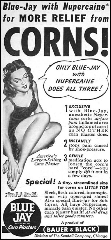 BLUE JAY CORN PLASTERS WOMAN'S DAY 04/01/1946 p. 97