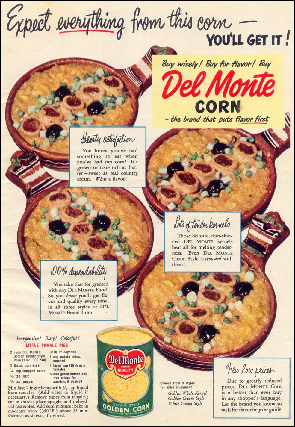 DEL MONTE CORN WOMAN'S DAY 05/01/1950 p. 13