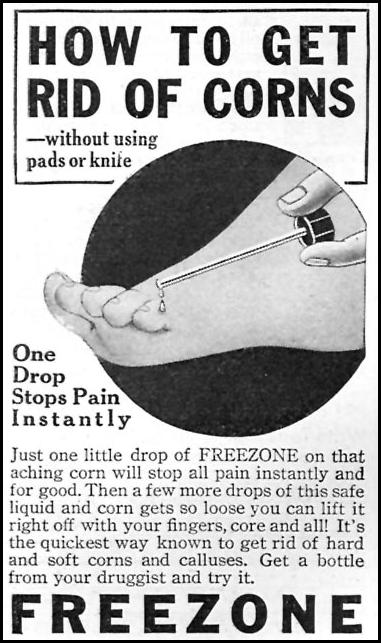 FREEZONE CORN REMEDY GOOD HOUSEKEEPING 04/01/1936 p. 232
