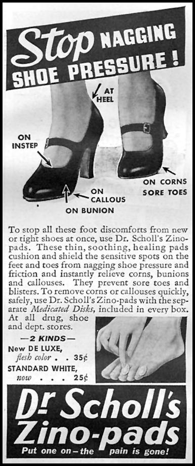 DR. SCHOLL'S ZINO-PADS GOOD HOUSEKEEPING 04/01/1936 p. 244