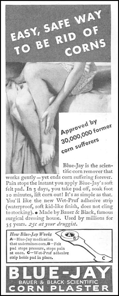 BLUE JAY CORN PLASTERS GOOD HOUSEKEEPING 06/01/1935 p. 216